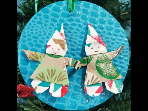 Make your own easy paper Elf Ornament