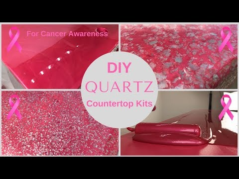Hot Pink Quartz Countertops to Honor Breast Cancer Awareness Month with Epoxy Resin