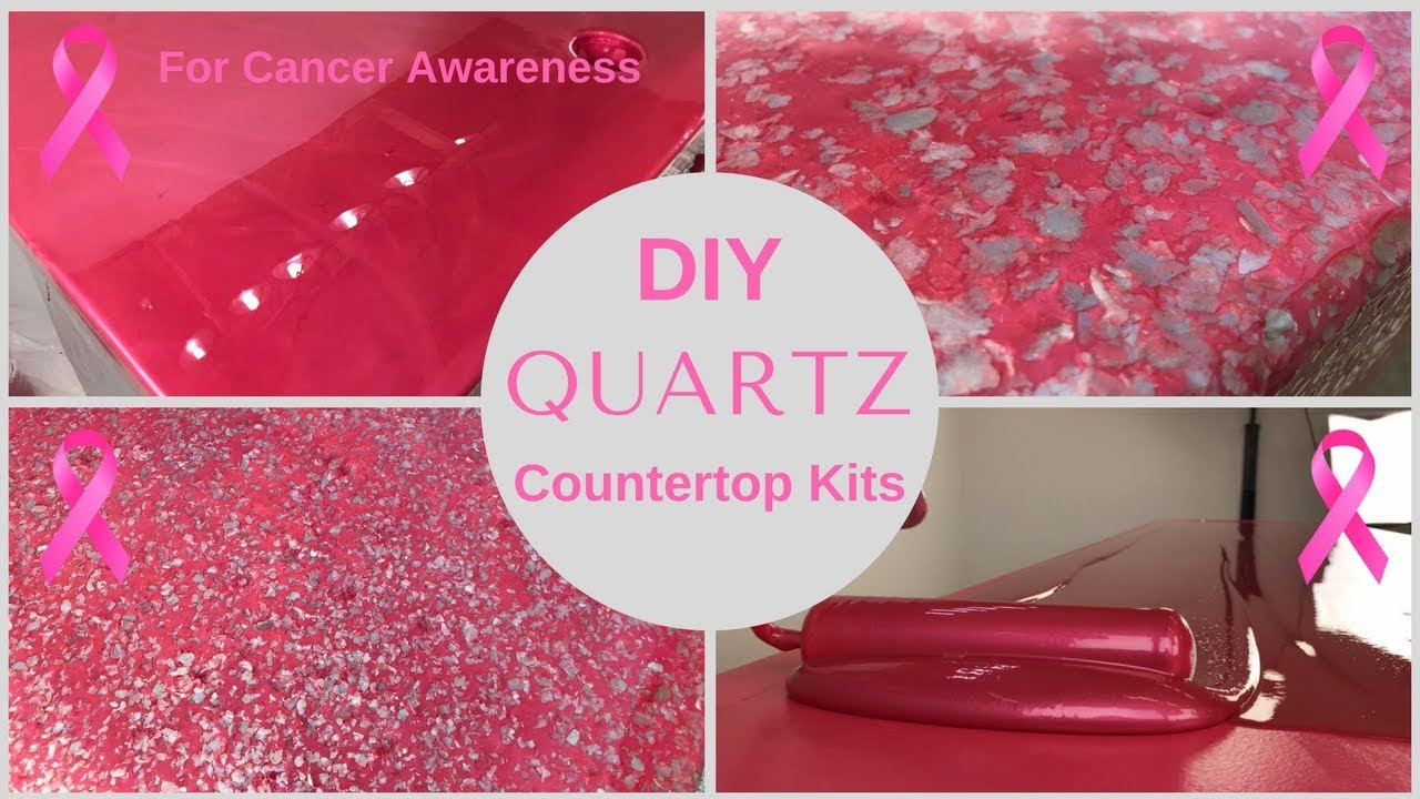 Hot Pink Quartz Countertops To Honor T Cancer Awareness Month With Epoxy Resin