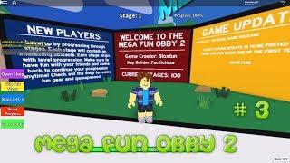 Roblox - Mega Fun Obby 2 viejo (alemán / Full-HD) Etapa 151-175
