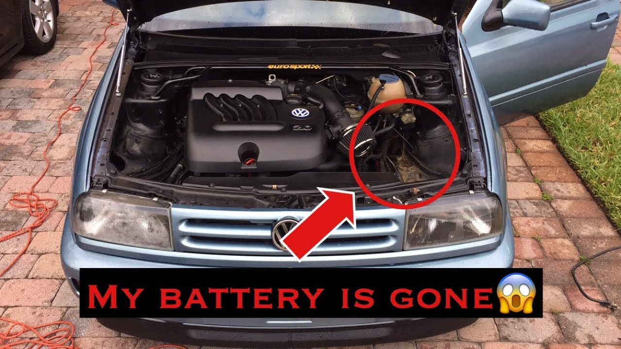 how to relocate your battery 1997 volkswagen jetta mk3  [ 1280 x 720 Pixel ]