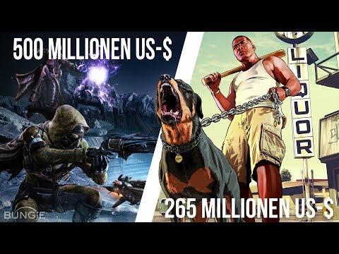 500.000.000 $ für ein VIDEOSPIEL? Die 5 teuersten Games der Welt!