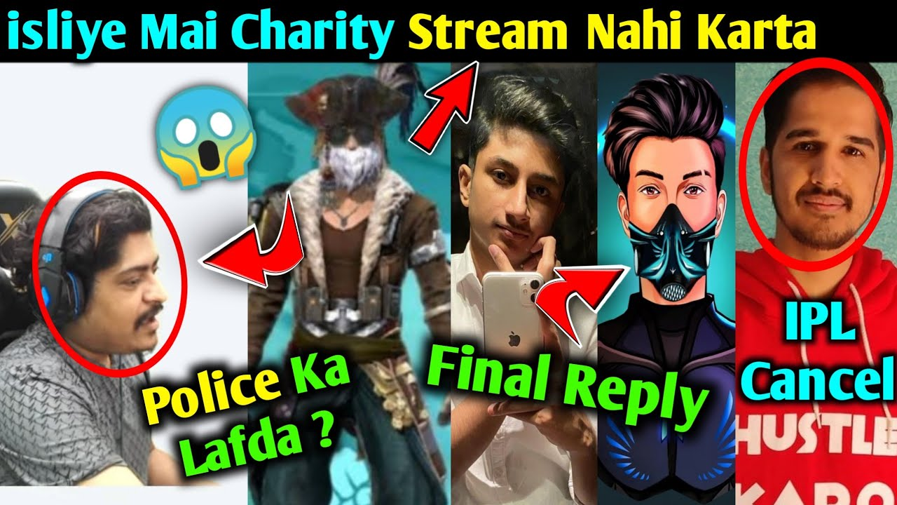 Total Gaming on Charity Stream, Gyan Gaming Explain Police incident, Shrey Yt Final Reply,