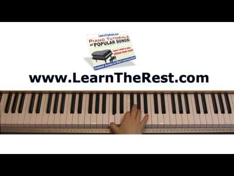 How to Play Homecoming by Kanye West ft. Chris Martin on Piano