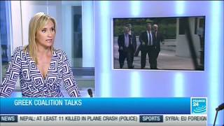Louise Hannah questions Melissa Bell on France 24, 5/14/2012