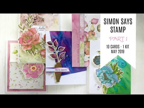 10 Cards - 1 Kit / Part 1 / Simon Says Stamp Card Kit / May 2019 / Delicate Flowers