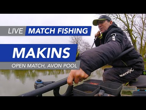 Live Match Fishing: Makins Fishery, Open Match, Avon Pool