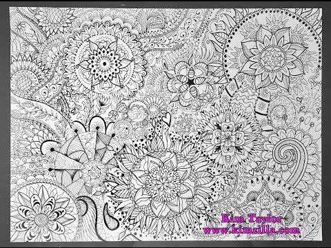 Mandala poster / JUMBO coloring page!  time lapse video - speed drawing