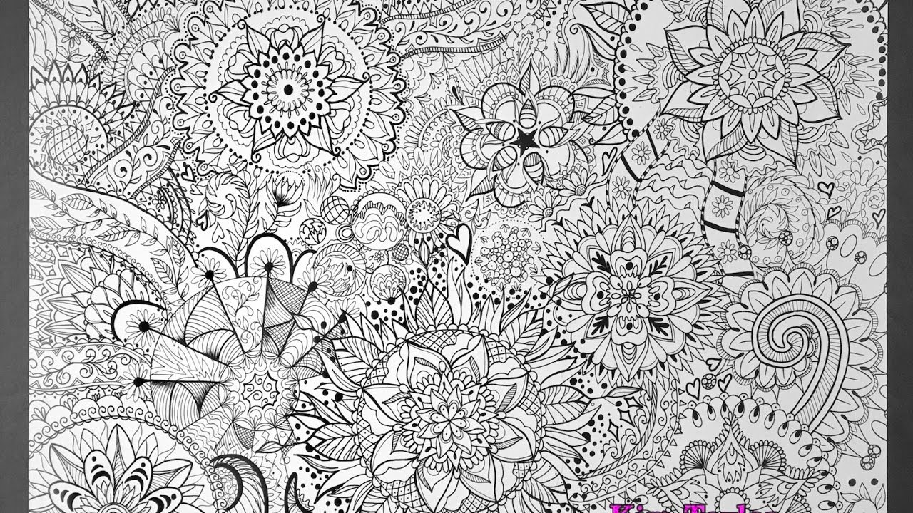 Mandala Poster Jumbo Coloring Page Time Lapse Video