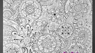 Mandala poster / JUMBO coloring page!  time lapse video - speed drawing