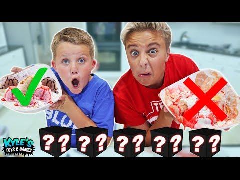 Mystery Candy Box Ice Cream Sundae Challenge!
