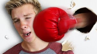 Punch the Person through the Wall Challenge!!