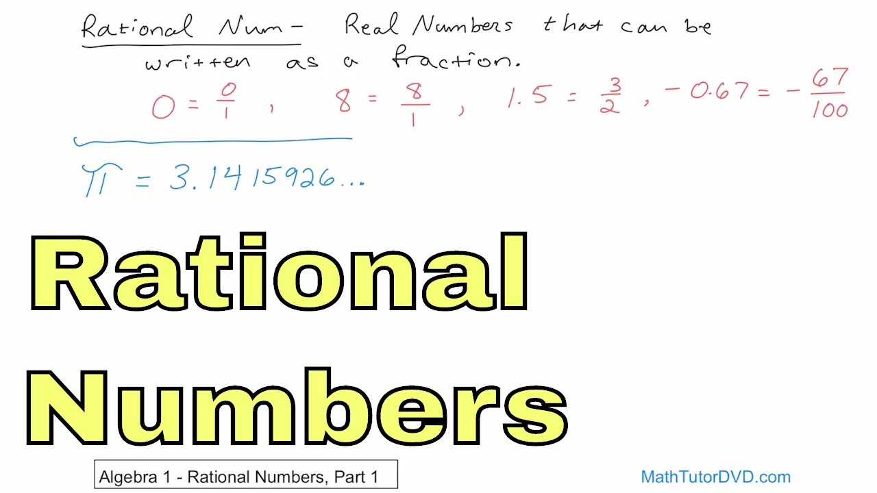 01 what is a rational number part 1 youtube