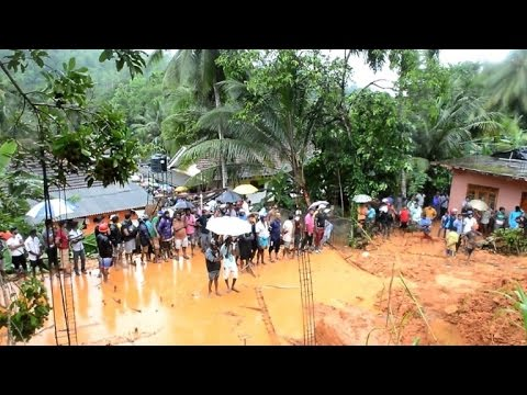 Floods in Sri Lanka: Rescue workers search for survivors