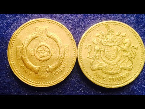 1983 and 2001 One Pound Coin Of United Kingdom