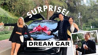 Surprised my dad with his dream car!!! Tesla Model X | RRAYYME