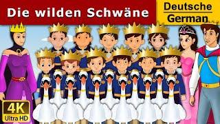 Die wilden Schwne  Gute Nacht Geschichte  Mrchen Fr Kinder  4K UHD  Deutsche Mrchen