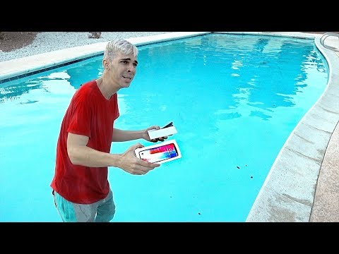 iPhone X Thrown In POOL By BEST FRIEND!!!