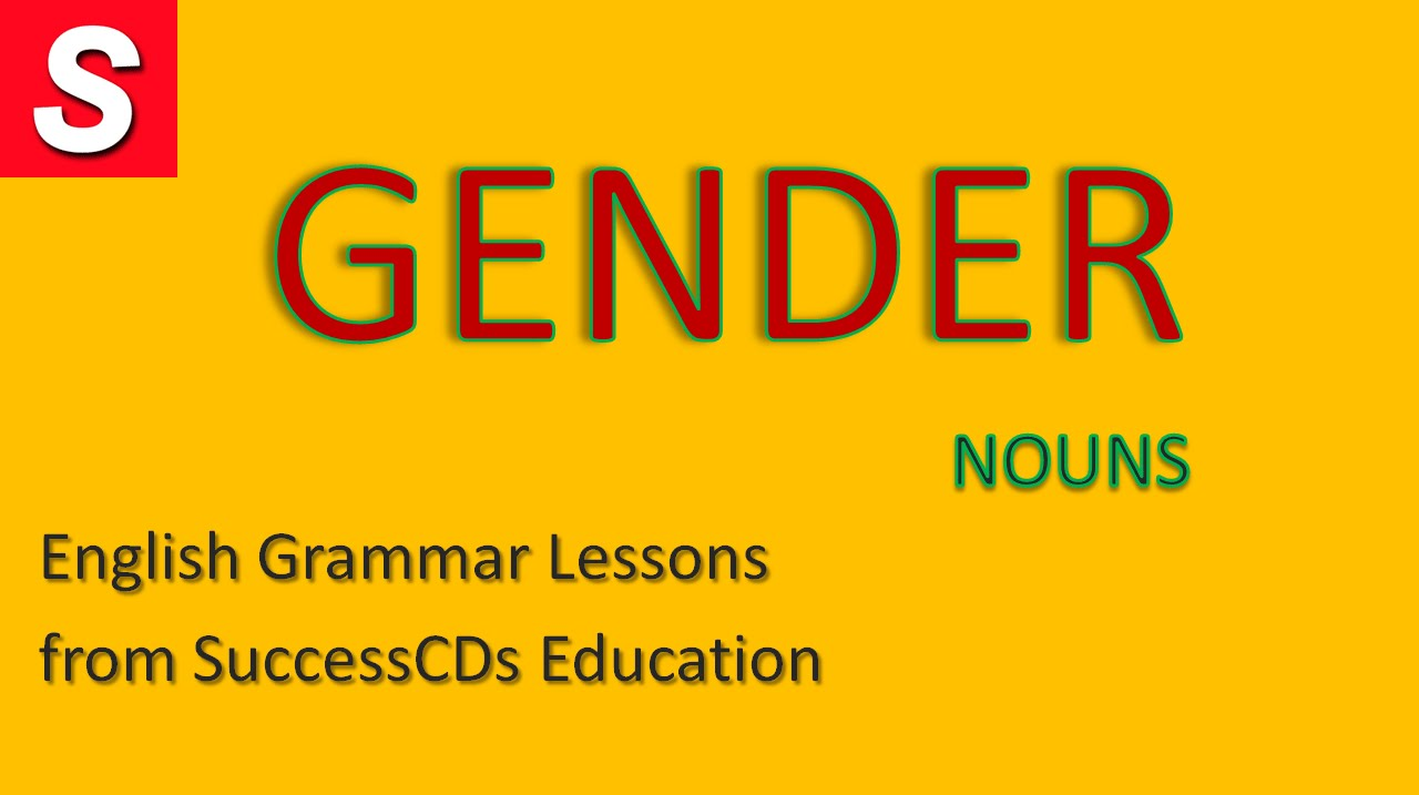 English Grammar lesson - GENDER - YouTube