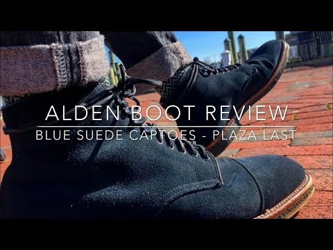 Alden Blue Suede Boot Review - Plaza Last