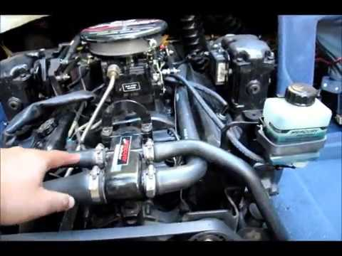 How to drain water from a boat engine Mercruiser 50L Thunderbolt