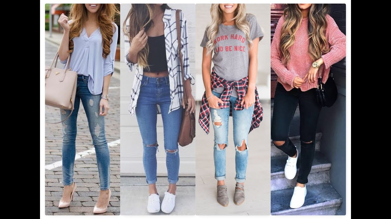 02cba3c37a18 College Outfit Idea for teenage Girls