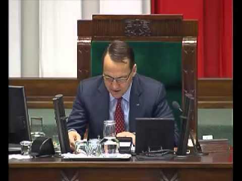 I forgot how to be Marszałek Sejmu - Radosław Sikorski