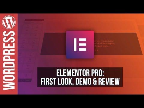 Elementor Pro for WordPress - Review & Demo - 동영상