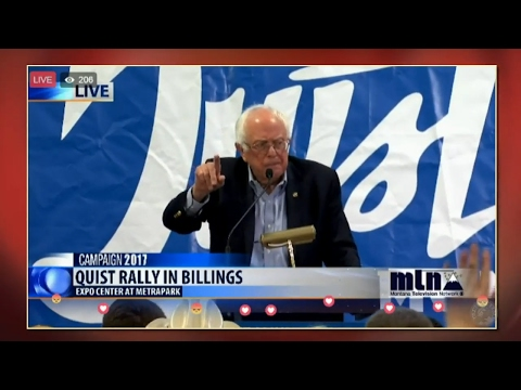 Bernie Sanders and Rob Quist - Rally at MetraPark Expo Center in Billings, Montana