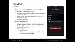Wie entwickelt man mobile framework in Microsoft Dynamics AX