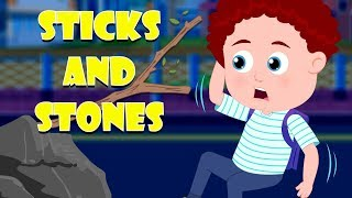 Stick And Stones | Schoolies Cartoons | Videos For Children by Kids Channel