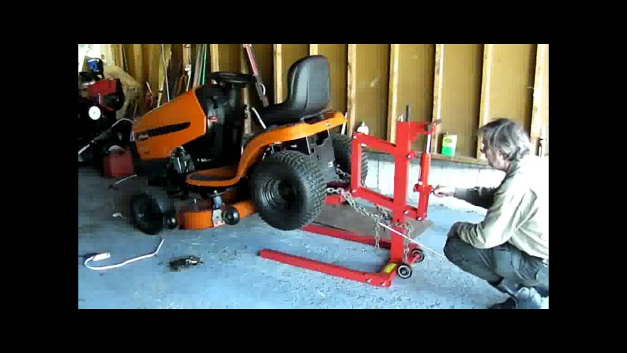 Harbor Freight Motorcycle High Postion Lift Ariens Lawn