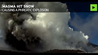 RAW  BBC journo, camerawoman caught in middle of Etna eruption