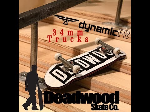 34mm Dynamic Fingerboard Trucks Unboxing