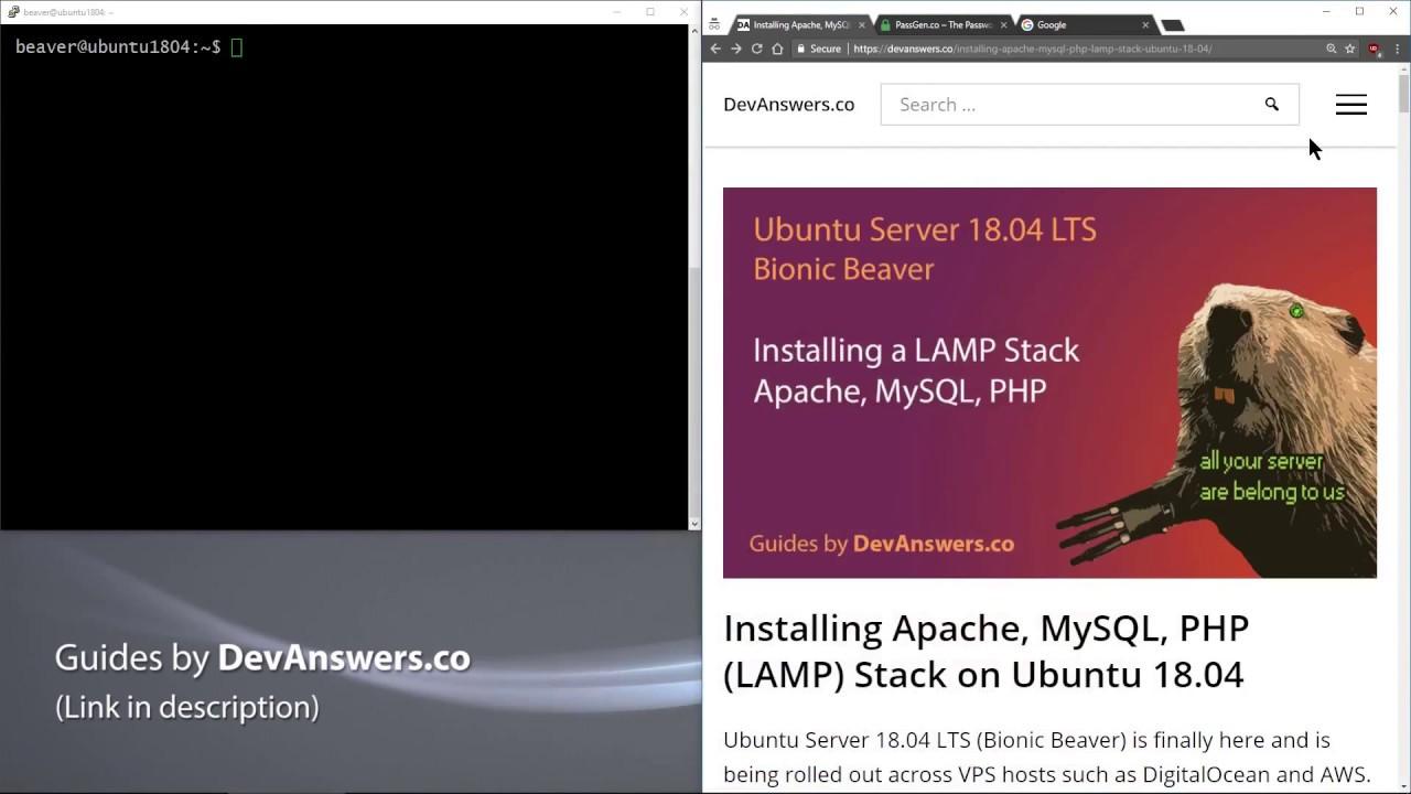 Installing Apache, MySQL, PHP (LAMP) Stack on Ubuntu 18 04