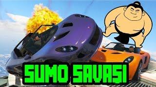 Gta 5 Sumo Savaşları [ Çarpışan Arabalar ] /w Youtubers