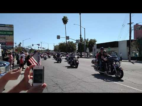 Funeral Procession through Hemet California