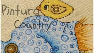 Pintura Country em tecido – Espantalho Chico – Parte 3