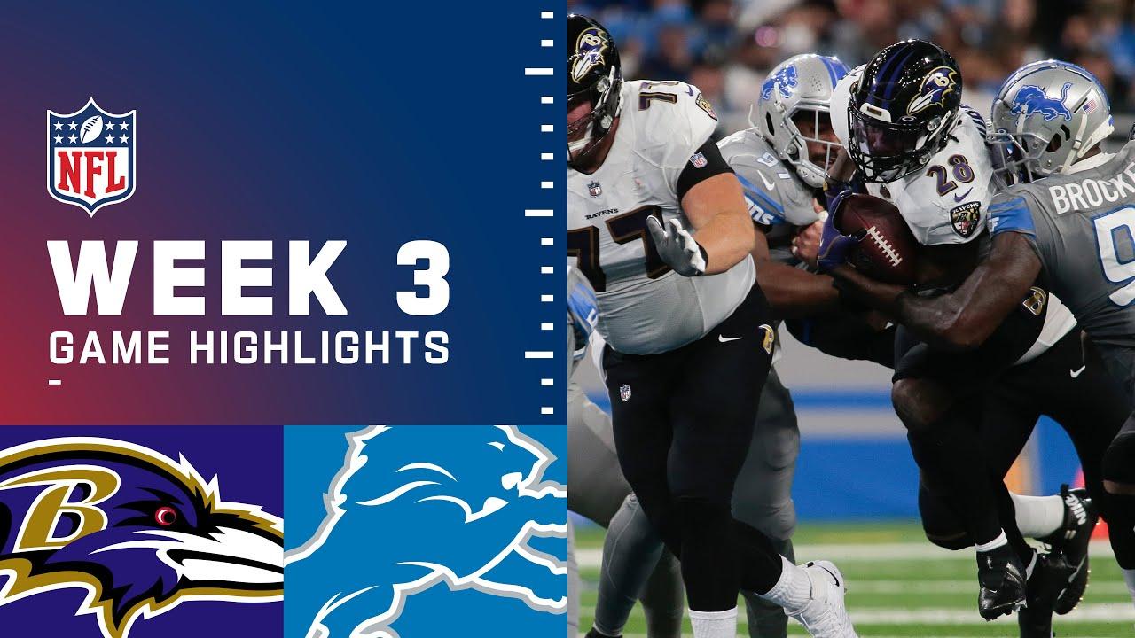 Download Ravens vs. Lions Week 3 Highlights   NFL 2021