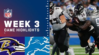 Ravens vs. Lions Week 3 Highlights | NFL 2021