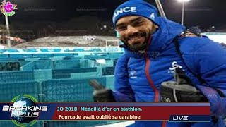 JO 2018: Médaillé d'or en biathlon,  Fourcade avait oublié sa carabine