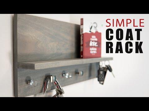 How To Make A Modern Coat Rack | Magnetic Key Holder