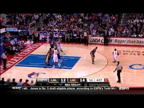 Kobe Bryant Steals Ball, Dunks On Chris Paul - Lakers @ Clippers 1/4/2013