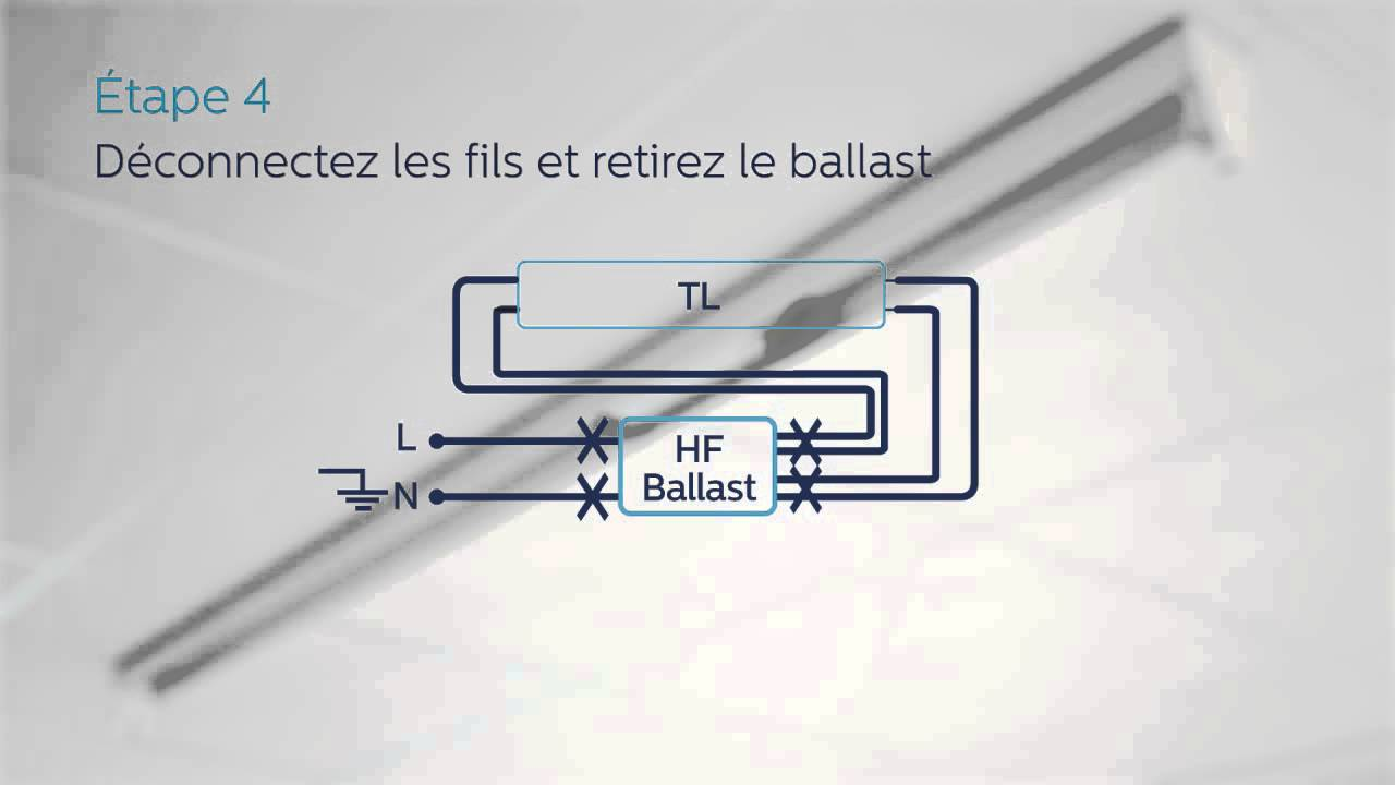 Guide d\'installation pour Philips MASTER LEDtube (HF) - YouTube