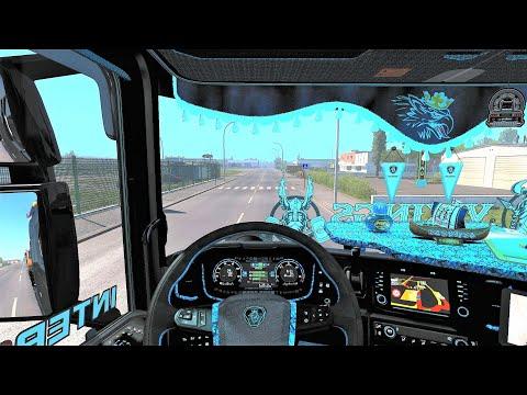 Euro Truck Simulator 2 (v1.38) - Scania S NextGen Special Tuning Pack + V8 Sound + Interior