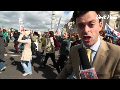Dale Maily at the Junior Doctors' Strike