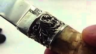 knife-klinok.ru охотничий нож из 9хс стали - заточка ножа(Нож с клинком из кованой 9ХС стали. Спуски клинка от обуха., 2014-03-31T13:21:12.000Z)
