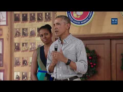 Obama Surprises Troops In Hawaii On Christmas Day 2016 - Full Speech