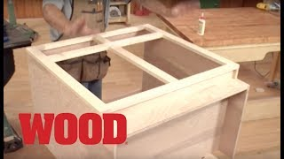 How To Make A Lower Cabinet Face Frame - WOOD magazine