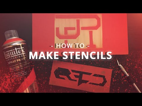 photograph relating to Printable Stencils for Spray Painting named How towards generate spray paint stencils [Effortless Very simple] - YouTube